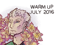 Daily Warm Up Drawings - July 2016 -