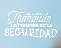 """Campaña Redes Sociales """"Vivir Tranquilo"""""""