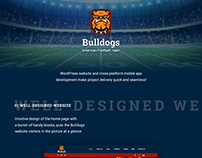 Football Team Website and App Development