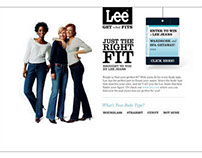 O, The Oprah Magazine   Lee Jeans microsite + sweeps