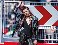 Léa Julian in Rebel Couture for ELLE