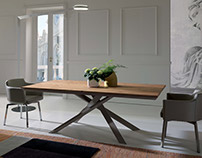 Ozzio Dining Table 4x4 Transformable to