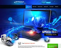Speed test - websitet design