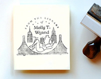 Molly's Personalized Stamp Illustration