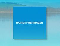 Brand identity design for Rainer Puehringer