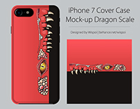 iPhone 7 Cover Case Mock-up Dragon Scale