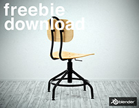 The Kullaberg Swivel Chair - Free Model - Blender3D