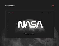 Landing page for Anicorn x NASA