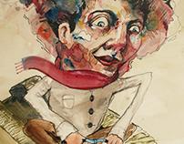 Pittura su carta_Linoleum, Acquarello_Fagioli