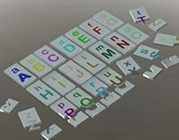 Puzzle - montar letras do abecedário