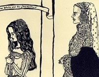snow white and stepmother/lithography