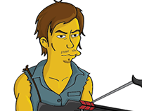 Daryl Dixon / The Walking Dead / Simpson's Style