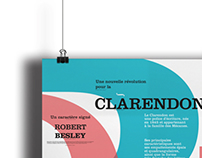 Poster Typography CLARENDON