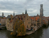 Bruges Belgium by drone