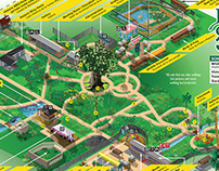 Botanical Gardens Visitor's Illustrated Map