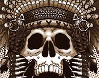 War Headdress T-shirt Design
