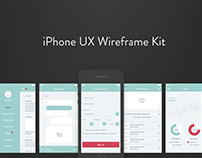 iPhone UX Wireframe Kit