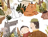 Children's picture book《我要走前面》