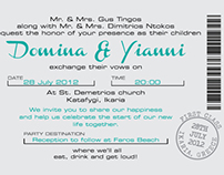 Save the Date, wedding invitation