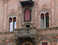 Decorative and architectural elements in stone. Bologna