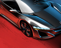 Media/Press illustrations for Honda R&D