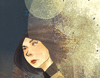 1Q84 - Illustrated Book Cover Concept