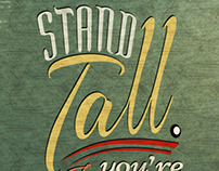 Stand tall. If you're short, bring a chair to stand on.