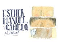 Esther, Manuel y Canelo