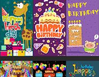 Birthday & Anniversary Greetings Animated