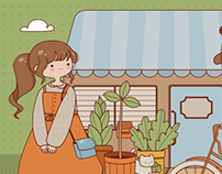 Plant shop - Vector version