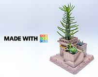 3D Printed Succulent Planter