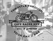 Cafe Racer XXX + Duclaw Brewing Company - Illustrations