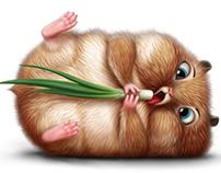 Hamsters on diet.