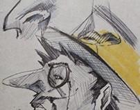 Man. illustration.  drawing
