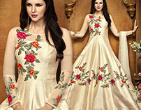 New-Fashioned Long Floor Length Semi- Stitched Anarkali