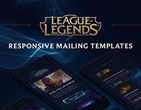 League Of Legends Responsive Mailing templates.