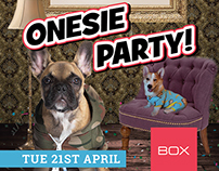 Onesie Party Poster - Box Nightclub