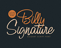 FREE | Billy Signature Font
