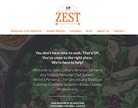 Zest Culinary Services Website