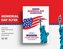 Us Memorial Day Flyer Template