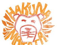 """Hakuna Matata"" T-shirt Design"