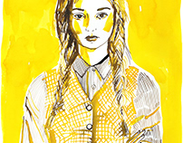 Yellow and pink girl
