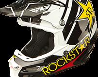 2015 ROCKSTAR X FLY RACING F2 HELMET GRAPHIC