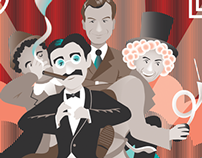 THE MARX BROTHERS Print for Bottleneck Gallery Show