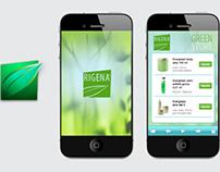 Rigena Cosmetica / Brand, Website and App Design
