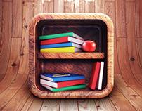 App Icon Design - Book Shelf