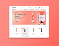 Alcohol Online Store Concept