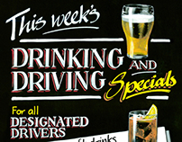 THINK! Road Safety 'Drinking and Driving' posters