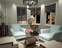 Light-green livingroom