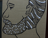 illustration in cardboard box